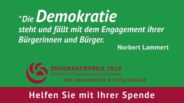 Für den Demokratiepreis 2018 spenden